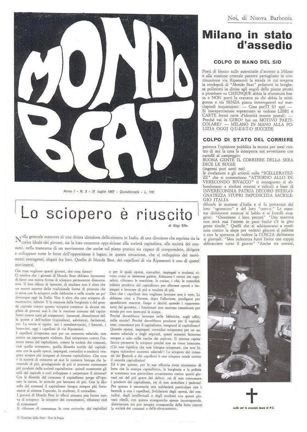 7th issue of the magazine Mondo Beat - page 1